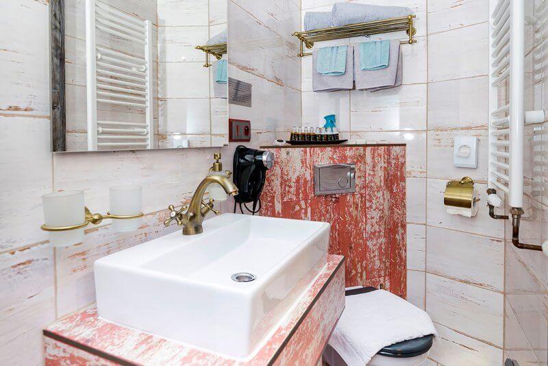 pokoj superior penzion padre ostrava koupelna