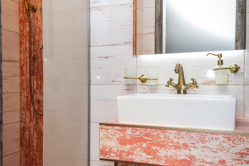 pokoj superior penzion padre ostrava koupelna detail